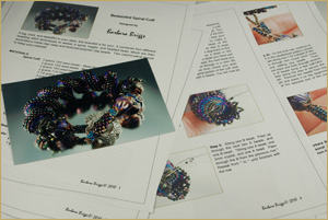 "The ""Bedazzled Spiral Cuff"" pattern"