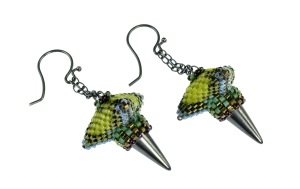 GeometricTriangularDropEarrings