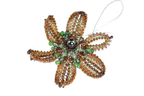 FloralBrooch_BronzeChrysanthemum_InProgress