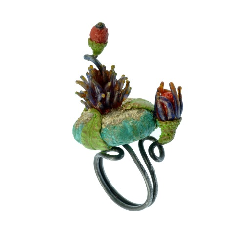 PolymerClay_TropicalFlora_Ring