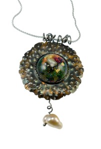 MixedMedia_SeaFlower_Pin-Pendant_Resin