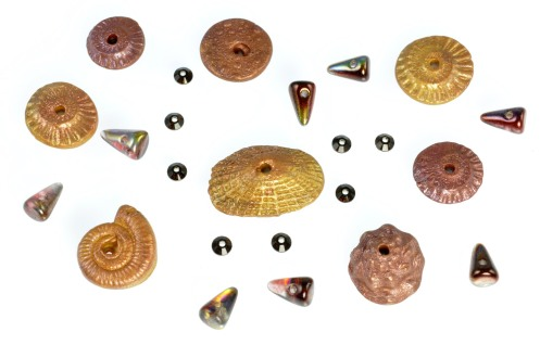 PolymerClay_SeashellCollection_Gold-Copper