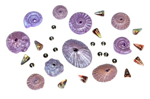 PolymerClay_SeashellCollection_Plum-Mauve