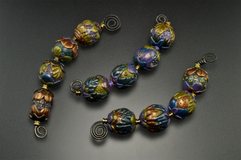 PolymerClay_Beads_Purple-Green-Blue