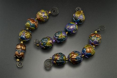 PolymerClay_Beads_Purple-Green-Blue
