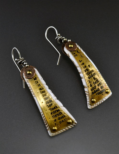 Mixed Media_Earrings_Etched Text