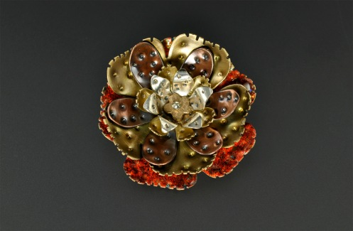 Metal Work_Resin_Poppy_Brooch
