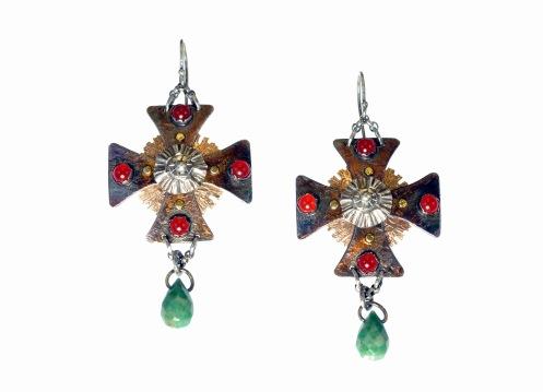Metal Work - Catherines Crosses - Earrings