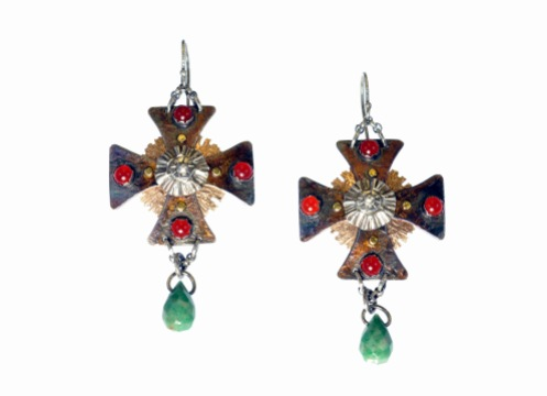 Metal Work - Catherines Crosses - Earrings