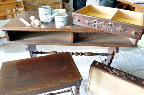 Furniture Refinishing - Vanity Before Paint
