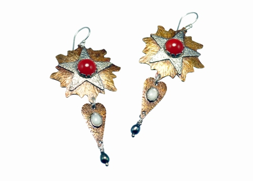 Metal Work - Le Roi Soleil - Earrings1