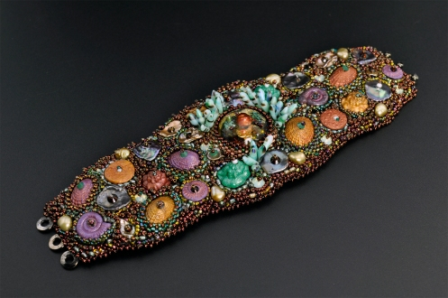 Bead Emroidery - Amphitrite's Cuff