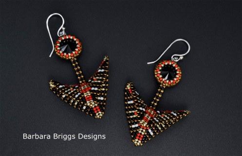 geometric-warped-square-arrow-drop-earrings-signed-pair