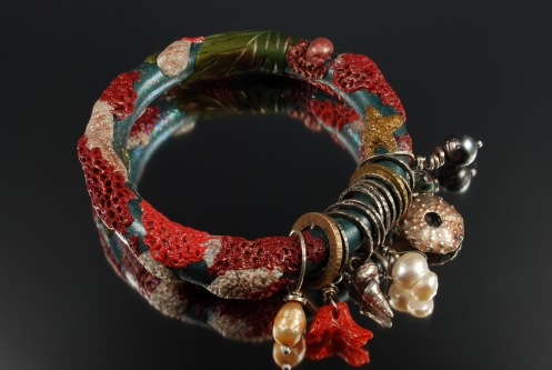 polymer-clay-coral-reef-bangle-2016-fmg-contest