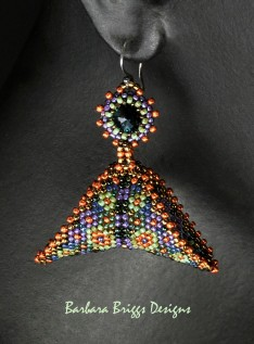 geometric-warped-square-earrings-mosaic-modeled-signed