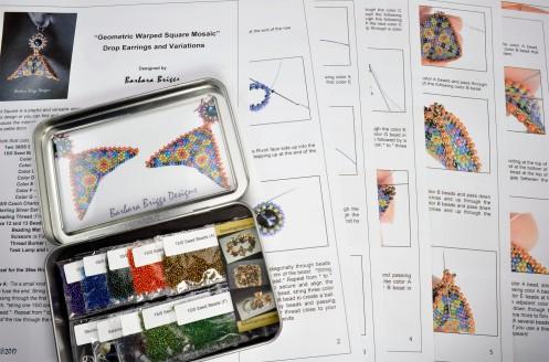 geometric-warped-square-mosaic-drop-earrings-kit